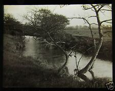 Glass Magic Lantern Slide THE ROTHER RIVER NR CANKLOW ROTHERHAM NO.1 C1910