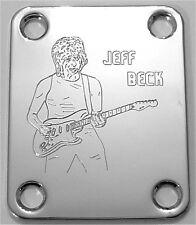 GUITAR NECK PLATE Custom Engraved Etched Fit Fender JEFF BECK - CHROME