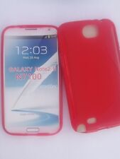 GALAXY NOTE 2 SAMSUNG N7100 COQUE ETUI SOUPLE SILICONE S-LINE, ROUGE