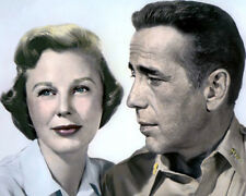 "June Allyson & Humphrey Bogart Battle Circus 1953 8X10"" Hand Color Tinted Photo"