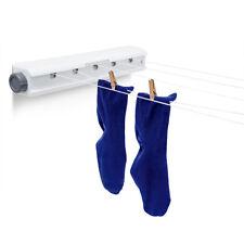 Relaxdays - roldrooglijn 20,5 m - waslijn uittrekbaar - drooglijn - oprolbaar