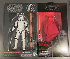 "Star Wars Black Series #09 The Stormtrooper & #38 Royal Guard 6"" inch New Lot"