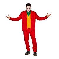 Mens Joker Red Suit Halloween Costume Joachin Villain Adult S/M L/XL 2XL