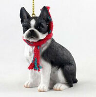 DOG CHRISTMAS ORNAMENT HOLIDAY XMAS Figurine Scarf  gift UNCROPPED SCHNAUZER
