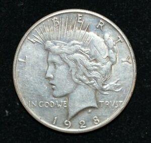 1928 s $1 Silver Peace Dollar - Rare - No Reserve!