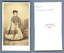 Auguste Meylan, Turin, Mlle Marie  CDV vintage albumen. Tirage albuminé  6,5