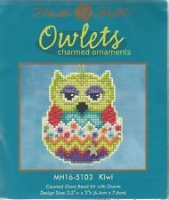 Kiwi Owlets Charmed Ornaments Glass Bead Kit with Charm by Mill Hill