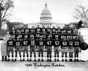 NFL 1950 Washington Redskins Team Photo Black & White 8 X 10 Photo Picture