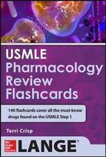 USMLE Pharmacology Review Flash Cards Crisp, Terriann LikeNew
