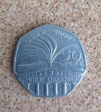 1x Fifty Pence Coin 50p Public Libraries 2000