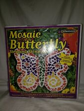 Mosaic Stepping Stone Kit Butterfly By Milestone 601950112760 New 820
