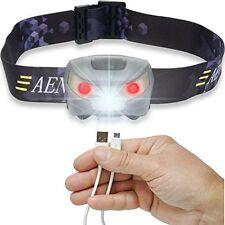 Aennon Lampe frontale Rechargeable par USB Torche À Éclairage LED Très lumineuse