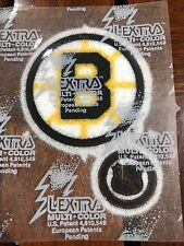 """BOSTON BRUINS IRON ON LEXTRA 2.25"""" PATCH/NHL 1"""" PATCH"""