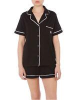 DKNY Signature Short Sleeve PJ Set Top Bottoms Shorts Pyjamas Size S -10 M - 12