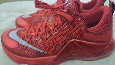 Nike LeBron 12 XII Low Red All Over Size 13.5 724557-616 bhm mvp kyrie cavs