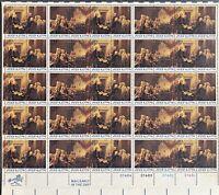 USA Briefmarken Bogen 50x 13 Cent 1976 Declaration of Independence #30728-S