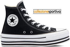 Converse Platform Nere | Acquisti Online su eBay