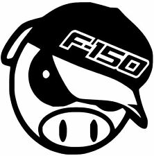 FORD F150 BUCK ANGRY PIG DECAL CAR TRUCK  CUSTOM VINYL STICKER 10 COLORS