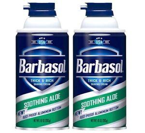 Barbasol Shaving Cream Soothing Aloe 2 Bottle Pack