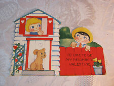 I'D Like To Be My Neighbor'S Valentine Vintage Card T*