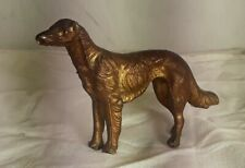 Vintage Cast Metal Afghan Hound Figurine Statue