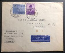 1952 Pontianak Indonesia Airmail cover To Aden Camp