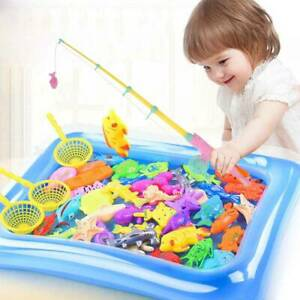 22Pc Magnetic Fishing Game Hook Rod Fish Miniature Angling Toy Catch Sea Classi1