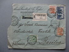 Italy, R-cover to Switzerland 1926, stamp St Francis