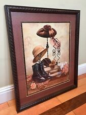 Homco Vintage Hat Stand Boots A Suitcase Picture By J Gibson Home Interior
