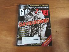 April 2016 Guitar Player Magazine The Guitarists of David Bowie Issue