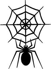 SPIDER WITH SPIDER WEB   DECAL CAR STICKER