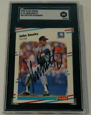 John Smoltz Rookie card rc AUTO Signed 1988 Fleer braves HOF