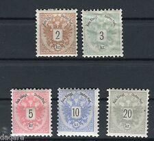 MG.176,austria stamps 1883,MI#44-48,L10 1/2
