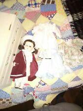 """Antique german bisque shoulder head doll kid body14"""" A.M. 370 6/0. Dep"""