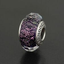 Pandora Dark purple facet Shimmer Murano charm bead (Ale s925) 791663
