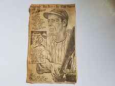 Joe DiMaggio 1948 Cartoon by Alan Maver RARE!