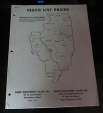 Fesco List Prices Allied Farm Equipment Sales Bloomington IL Illinois Machinery