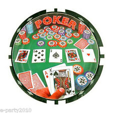 POKER NIGHT SMALL PAPER PLATES (8) ~ Adult Birthday Party Supplies Dessert Cake