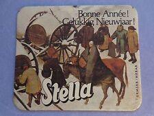 Beer Coaster: Stella Artois Bier ~ Leuven, BELGIUM ~ Happy New Year Winter Scene