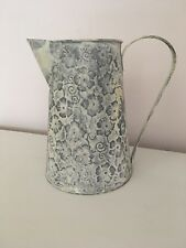 Rustic/Shabby Chic Tin Flower Jug/ Vase