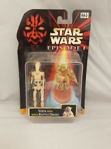 Star Wars Episode 1 Yoda & Bonus Battle Droid Action Figure Set