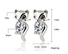 Fox Stud Earrings Alloy Silver Or Gold Plated Crystal Earring Fashion Jewelry Br