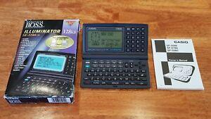 PRISTINE! Casio SF-5580-W BOSS Illuminator Backlight 128 KB PDA w/Box & Manual