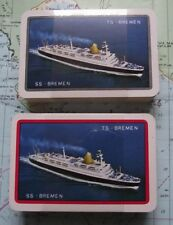Twin Box SS Bremen Shipping Line Playing Cards Mint