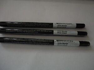 3 AVON glimmersticks brow definer liner pencils DARK BROWN NEW discontinued