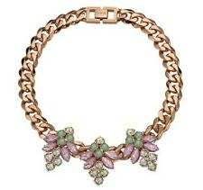 MAWI TRIPLE CRYSTAL FIREFLY ROSE GOLD NECKLACE