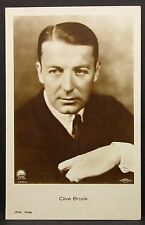 Clive Brook-movie photo postcard-AK-Foto Autografo mappa (Lot g-5938