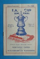 More details for 1951 fa cup semi final programme - newcastle united v wolverhampton wanderers