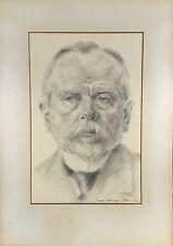 KARL ERNST LANGE (1887-1959) MEISSEN DRESDEN - PORTRAIT - MANN - 1913 - #4