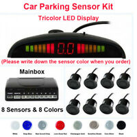 Kit 8 Sensori di Parcheggio per Auto 8 Colori DC12V Allarme +LED Display Monitor